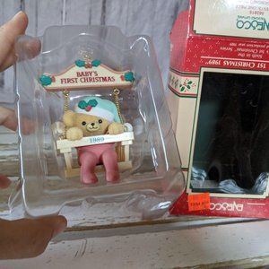 ENESCO Baby's First Christmas 1989 6th In The Seri